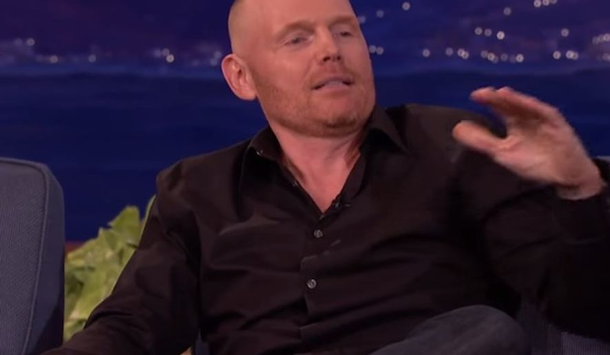 "Comedian Bill Burr took on the pronoun police in full force since Caitlyn Jenner's public transition from a man to a woman, lamenting on ""Conan"" Thursday night that expressing any level of shock makes you a homophobe. (YouTube/Team Coco)"