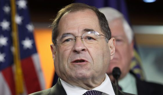 In this June 16, 2015, file photo, Rep. Jerrold Nadler, D-N.Y. speaks during a news conference on Capitol Hill in Washington. (AP Photo/Lauren Victoria Burke, File)
