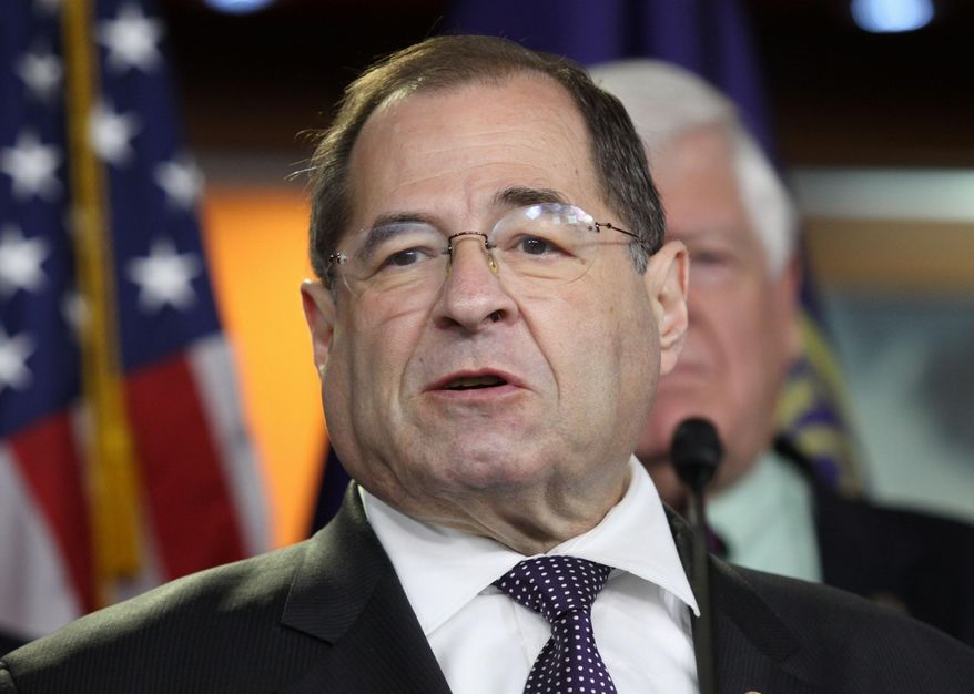 In this June 16, 2015, file photo, Rep. Jerrold Nadler, D-N.Y., speaks during a news conference on Capitol Hill in Washington. (AP Photo/Lauren Victoria Burke, File)
