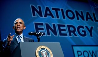 President Obama is promoting a platform of executive actions and private sector commitments to accelerate America's transition to cleaner sources of energy. Republicans, however, say his plan will ultimately bring Americans higher power costs. (Associated Press) ** FILE **