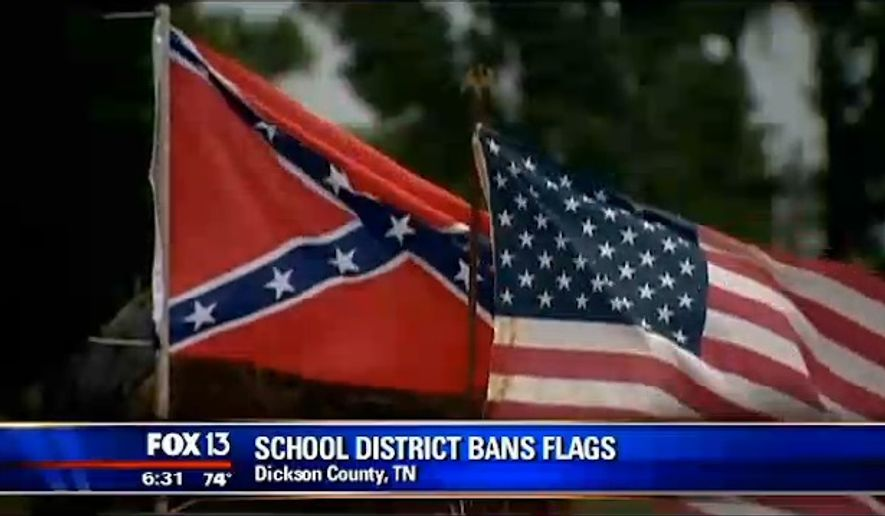 The Dickson County School District has prohibited students from flying flags, including the American flag, from their vehicles following a dispute over the Confederate banner. (FOX13 Memphis)