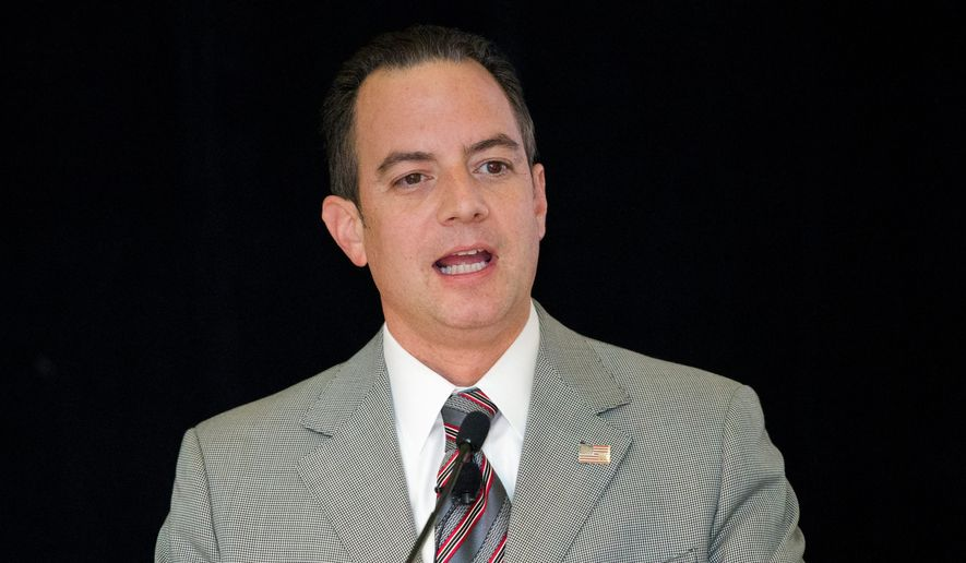 Republican National Committee chairman Reince Priebus said Democratic presidential candidate Hillary Rodham Clinton is misleading the public. (Associated Press)