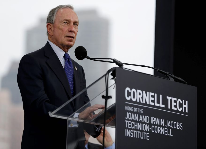 Former New York City Mayor Michael Bloomberg, a fierce gun control advocate, foundation has given to the Johns Hopkins Center for Gun Policy and Research, which resides under the aptly-named John Hopkins Bloomberg School of Public Health. Mr. Bloomberg has given more than $1 billion to Johns Hopkins' various departments in his lifetime. (Associated Press)