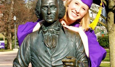 Alison Parker following her graduation from James Madison University on 2012.