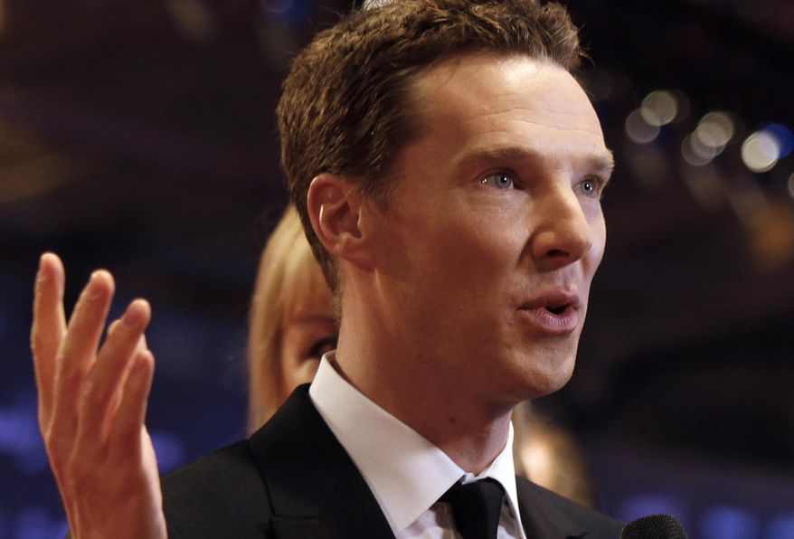 "FILE - In this Wednesday, April 15, 2015 file photo, British actor Benedict Cumberbatch arrives to host the Laureus World Sports Awards in Shanghai, China. It's a ""Hamlet"" with Hollywood-level hype and an A-list star in Benedict Cumberbatch. But London's latest stage sensation is more than a Shakespearean star vehicle. The play's the thing, and this sold-out production has a visual wow factor as big as its lead actor. (AP Photo, File)"