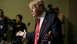 Republican presidential candidate Donald Trump (AP Photo/Charlie Neibergall)