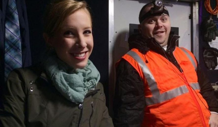 CORRECTS YEAR FLANAGAN WAS FIRED TO 2013 FROM EARLIER THIS YEAR - This undated photograph made available by WDBJ-TV shows reporter Alison Parker, left, and cameraman Adam Ward. Parker and Ward were fatally shot during an on-air interview, Wednesday, Aug. 26, 2015, in Moneta, Va. Authorities identified the suspect as fellow journalist Vester Lee Flanagan II, who appeared on WDBJ-TV as Bryce Williams. Flanagan was fired from the station in 2013. (Courtesy of WDBJ-TV via AP) MANDATORY CREDIT