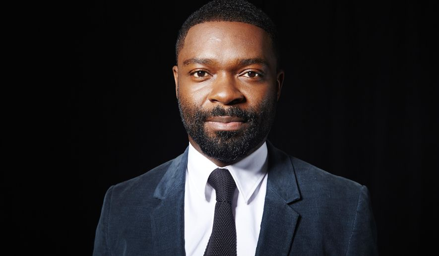 "In this Aug. 19, 2015 photo David Oyelowo poses for a portrait in New York. Oyelowo plays an emotionally damaged man losing himself further after a spasm of off-camera violence in HBO's ""Nightingale,"" a role which garnered him an Emmy nomination on July 16. The 67th Annual Primetime Emmy Awards will take place on Sept. 20. (Photo by Dan Hallman/Invision/AP)"