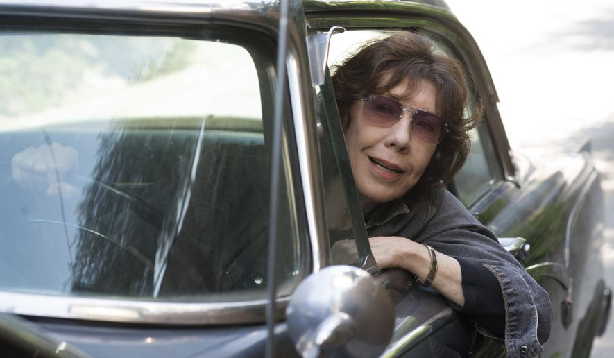 "In this image released by Sony Pictures Classics, Lily Tomlin appears in a scene from ""Grandma."" (Glen Wilson/Sony Pictures Classics via AP)"