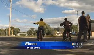 Police in Winona, Minnesota, are searching for several suspects who attacked a teenager Monday night after he accidentally struck a 4-year-old black boy with his pickup truck. (KTTC)