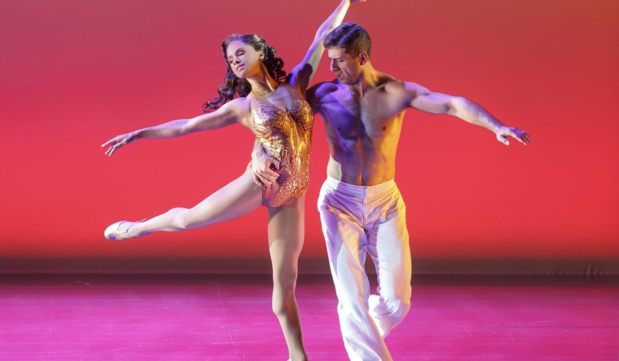 """This photo provided by Joan Marcus on Aug. 28, 2015 shows ballerina Misty Copeland in the musical """"On the Town"""" at the Lyric Theatre. Until Sept. 6, 2015 Copeland will play Miss Turnstiles, a love interest for one of three sailors enjoying a few hours of shore leave in 1940s New York. (Joan Marcus via AP)"""