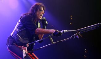 Alice Cooper performs at the Royal Farms Arena in Baltimore MD on August 26, 2015. (Photograph by Joseph Szadkowski / The Washington Times)