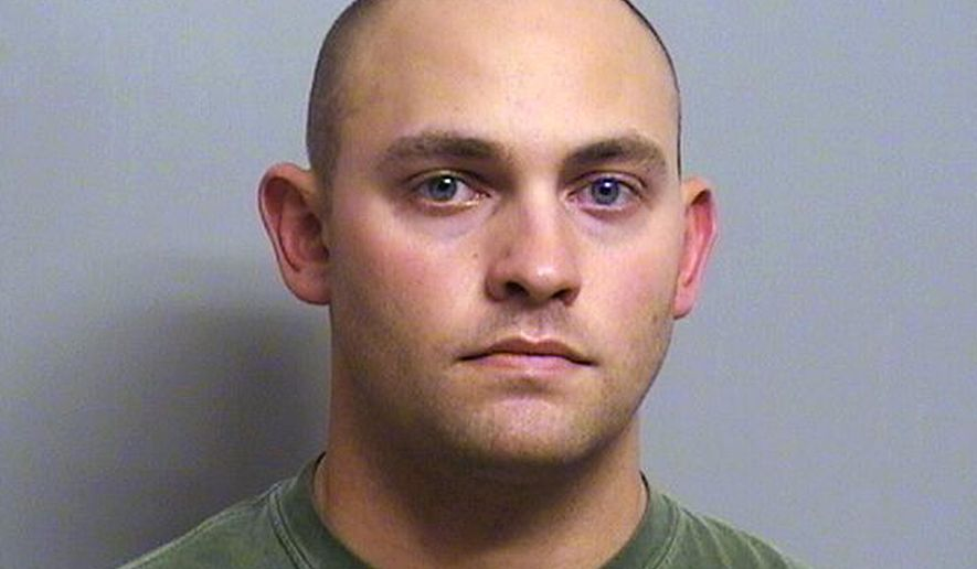 FILE - This photo provided by the Tulsa County Jail shows former Tulsa County sheriff's deputy Gerald Nuckolls who's charged with sexually assaulting at least two women when he was on duty. A district judge agreed Friday, Aug. 28, 2015, to delay Nuckolls' jury trial because of an illness in the defense attorney's family. (AP Photo/Tulsa County Jail, File)