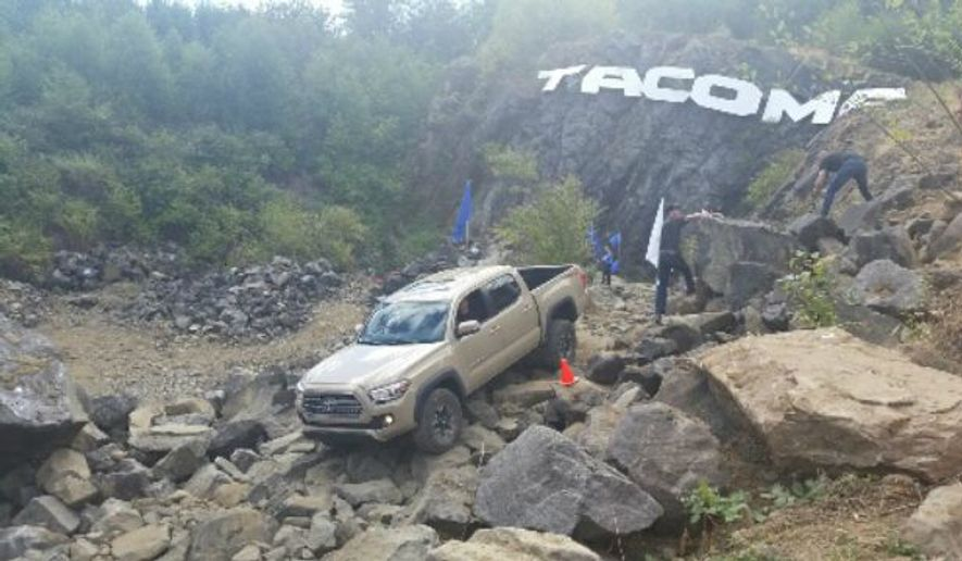 You can expect a good ride in the 2016 Toyota Tacoma when it goes on sale in September. (Photo by Rita Cook)