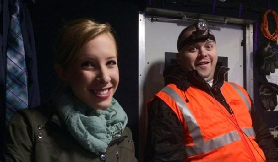 This undated file image made available by WDBJ-TV shows reporter Alison Parker, left, and cameraman Adam Ward. Community religious leaders gathered Sunday, Aug. 30, 2015 to remember Parker and Ward, who were shot and killed by a former co-worker on Aug. 26. (Courtesy of WDBJ-TV via AP, File)