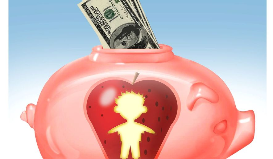 Illustration on Educational Savings Accounts by Alexander Hunter/The Washington Times
