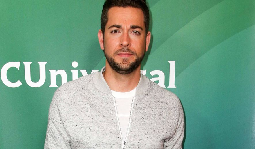 """FILE - In this Aug. 13, 2015, file photo, Zachary Levi arrives at the NBCUniversal Summer TCA Tour in Beverly Hills, Calif. Levi is replacing Josh Radnor in the upcoming Broadway revival of """"She Loves Me."""" The Roundabout Theatre Company said Tuesday, Sept. 1, that Levi will join Laura Benanti, Jane Krakowski and Gavin Creel in the 1963 romantic musical about two star-crossed co-workers. (Photo by Rich Fury/Invision/AP, File)"""
