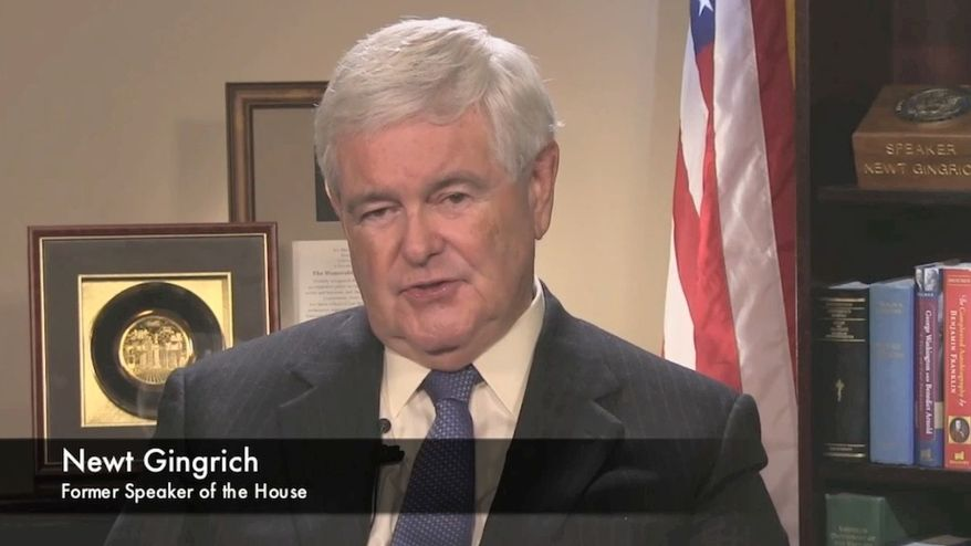 Former U.S. House Speaker Newt Gingrich is asked: How do Republicans beat Hillary Clinton in 2016?