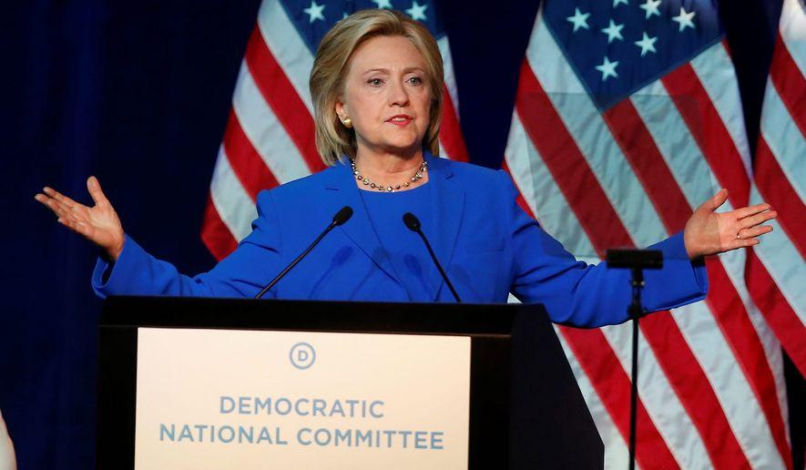 Democratic presidential candidate Hillary Rodham Clinton (Associated Press) **FILE**