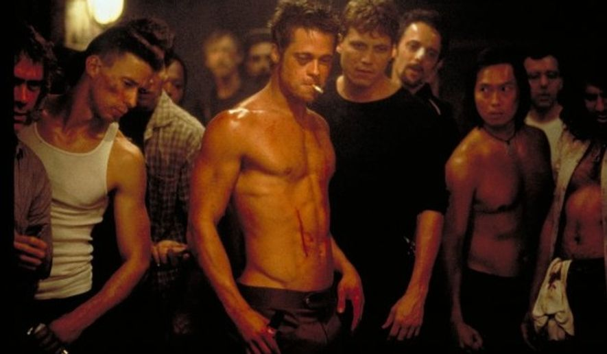 "Brad Pitt as Tyler Durden in 1999 film ""Fight Club."" (20th Century Fox)"