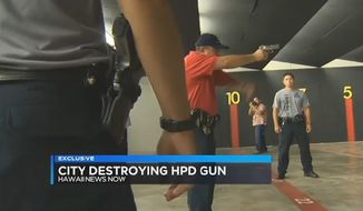Instead of auctioning off firearms it no longer needs, the Honolulu Police Department has opted to destroy $575,000 worth of handguns in a controversial effort to keep them off the streets.
