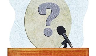 Uncertain GOP Debate Participants Illustration by Greg Groesch/The Washington Times