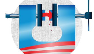 Obama Administration Squeezes the Hillary Campaign Illustration by Linas Garsys/The Washington Times