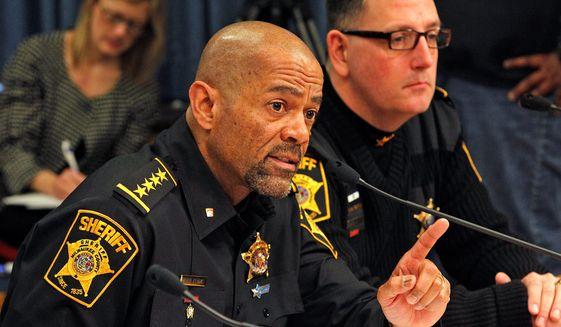 Milwaukee County Sheriff David A. Clarke Jr. (Associated Press) ** FILE **