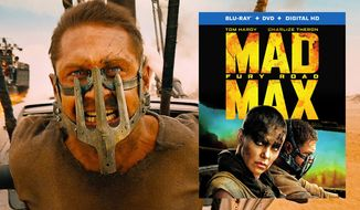"""Tom Hardy stars as the iconic road warrior in """"Mad Max: Fury Road,"""" now available in Blu-ray from Warner Home Video."""