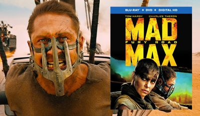 "Tom Hardy stars as the iconic road warrior in ""Mad Max: Fury Road,"" now available in Blu-ray from Warner Home Video."
