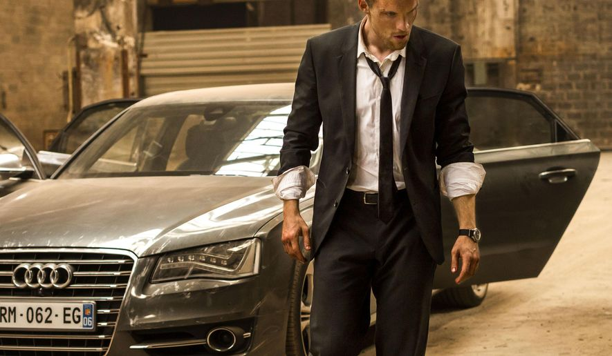 "This photo provided by EuropaCorp/TF1 Films shows, Ed Skrein, as Frank Martin, in EuropaCorp's  ""The Transporter Refueled."" The film opens in U.S. theaters on Friday, Sept. 4, 2015. (Bruno Calvo/EuropaCorp/TF1 Films via AP)"