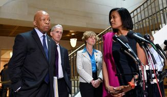 Ty Clevenger, who last month won a court order demanding Maryland's attorney grievance commission investigate Cheryl Mills (pictured), David E. Kendall and Heather Samuelson over accusations of destruction of evidence, says the state is now refusing to divulge the progress of the probe, breaking its usual rules. (Associated Press)