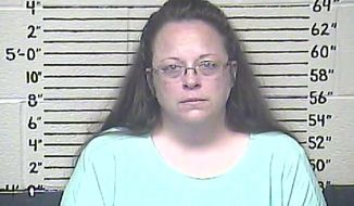 Rowan County (Ky.) Clerk Kim Davis objects to same-sex marriage for religious reasons and stopped issuing all marriage licenses in June after the U.S. Supreme Court legalized gay marriage. (Associated Press)