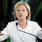 New emails show Hillary Rodham Clinton's family foundation's aims may have steered her foreign policy while secretary of state. (Associated Press)