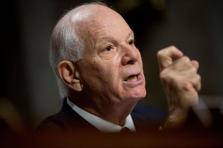 Ranking Member Sen. Ben Cardin, D-Md. is seen during a Senate Foreign Relations Committee hearing on Capitol Hill to review the Iran nuclear agreement, in this July 23, 2015, file photo. (AP Photo/Andrew Harnik)