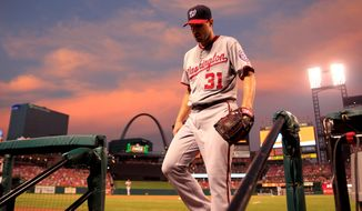 The Nationals were considered World Series favorites after the $210 million offseason signing of pitcher Max Scherzer. Currently, the Nationals are four games back of the NL East-leading New York Mets. (Associated Press)