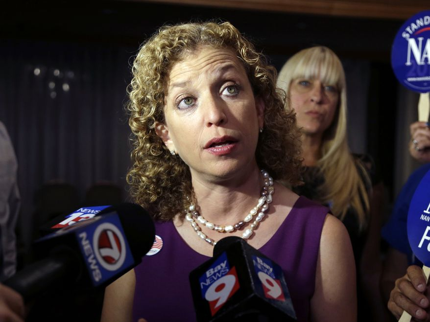 "Rep. Debbie Wasserman Schultz had to swallow back tears Sunday as she described her ""gut-wrenching"" decision to back the Iran nuclear agreement. (Associated Press)"