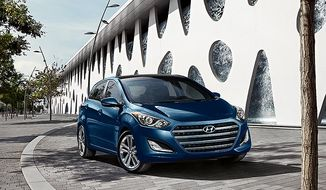 The 2016 Hyundai Elantra GT hatchback offers new front-end styling. (Hyundai)