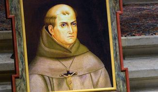 During his upcoming visit to the nation's capital, Pope Francis will canonize Junipero Serra, who founded the California mission system that introduced Christianity to west coast American Indians. Critics say Serra's work led to persecution of America's native peoples. (The Monterey County Herald via Associated Press)