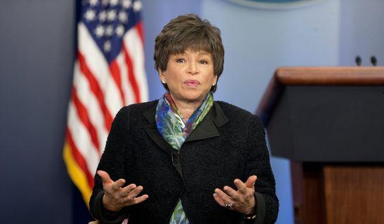 Former White House senior adviser Valerie Jarrett served in the Obama administration. (Associated Press) **FILE**