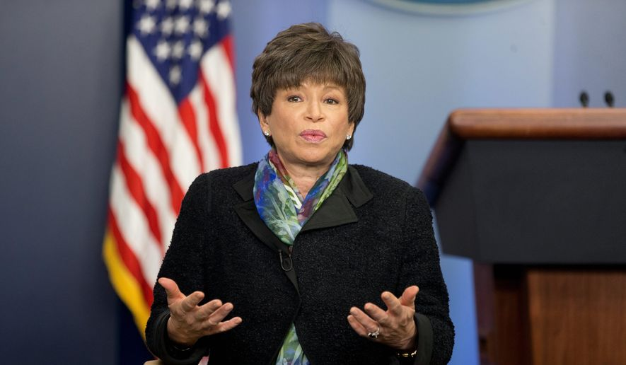 Former White House senior adviser Valerie Jarrett served in the Obama administration. (Associated Press) **FILE**