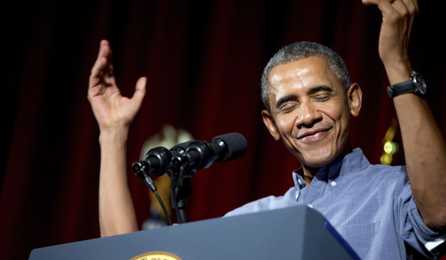 President Barack Obama speaks at the Greater Boston Labor Council Labor Day Breakfast, Monday, Sept. 7, 2015, in Boston. Obama will sign an Executive Order requiring federal contractors to offer their employees up to seven days of paid sick leave per year. (AP Photo/Andrew Harnik)