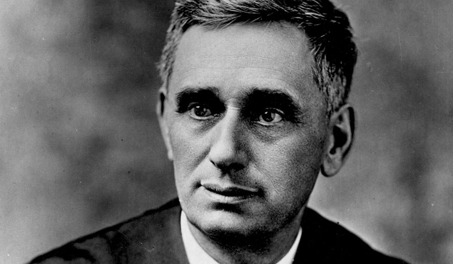 U.S. Supreme Court Justice Louis D. Brandeis is shown in this undated photo.  Brandeis served as an associate justice of the Supreme Court from 1916 to 1939.  (AP Photo)