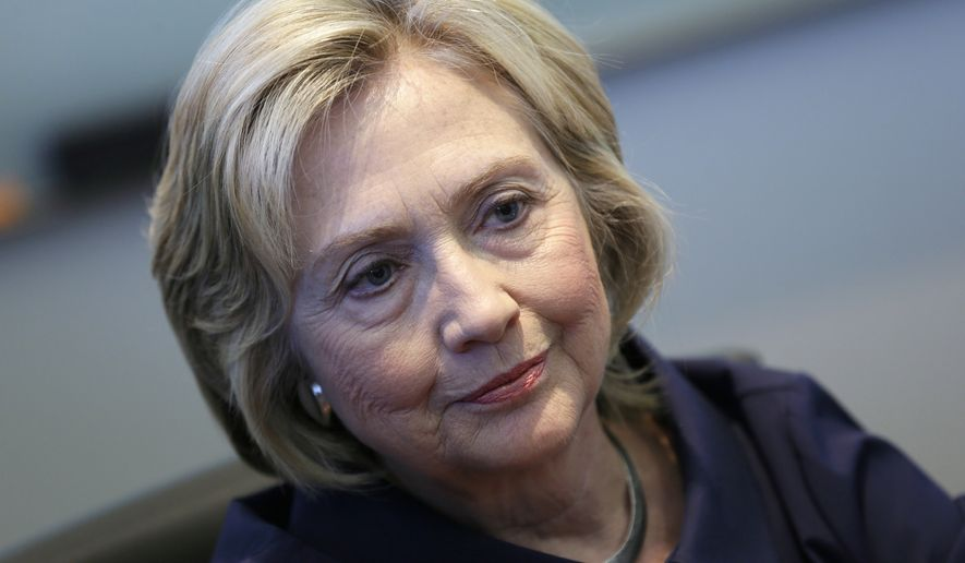 """That was a mistake. I'm sorry about that. I take responsibility,"" said Hillary Rodham Clinton about her use of a private email server during her tenure as secretary of state. (Associated Press)"