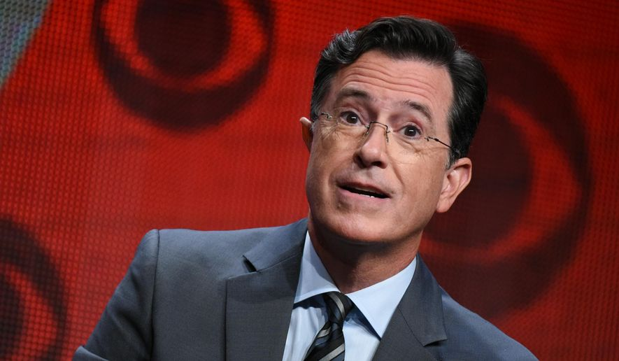 "Stephen Colbert officially takes over for the retired David Letterman as host of ""The Late Show"" on CBS Tuesday, Sept. 8, 2015. (Photo by Richard Shotwell/Invision/AP, File)"