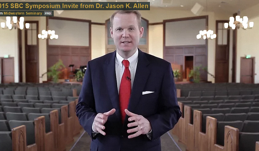 Dr. Jason Allen, president of Midwest Baptist Theological Seminary in Kansas City. (Image courtesy of mbts.edu.)