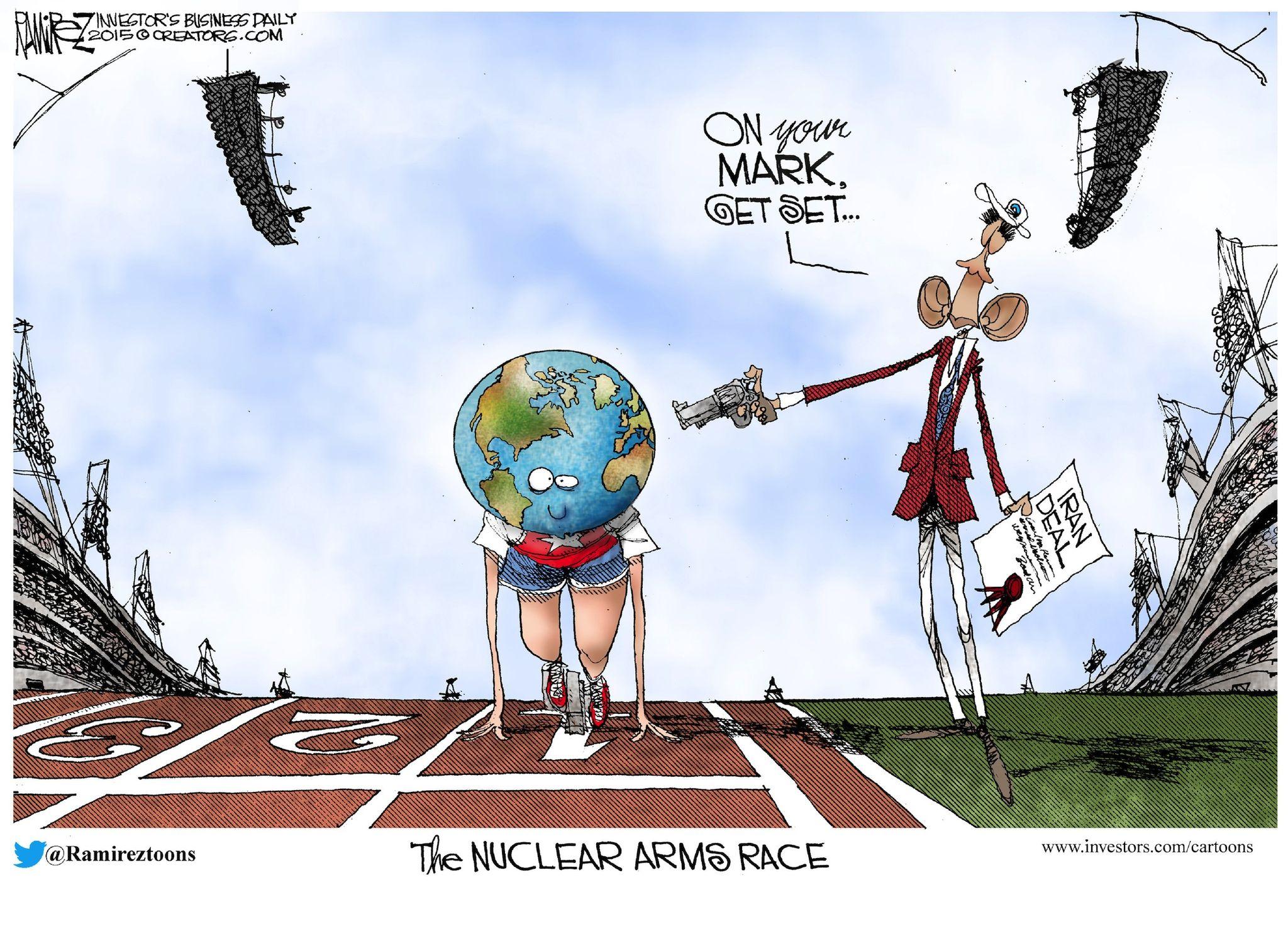 Political Cartoons - Around the World - The Nuclear Arms Race ...