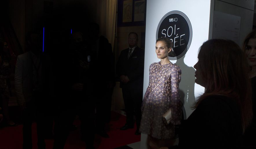 Natalie Portman attends a TIFF soiree, a charity event ahead of the 2015 Toronto International Film Festival in Toronto on Wednesday, Sept. 9, 2015.  (Chris Young/The Canadian Press via AP)