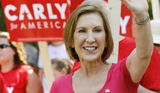 Republican presidential candidate Carly Fiorina has gained support in national polls. (AP Photo/File)