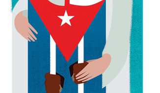 Illustration on why the Pope should embrace Cuban political dissidents by Linas Garsys/The Washington Times